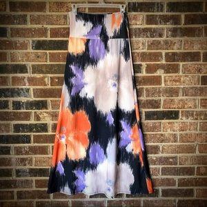 Agnes & Dora Floral Maxi Skirt - M
